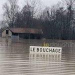 Neige abondante & inondations vers les Alpes mi-février 1990