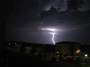 Orages et fortes chaleurs de mardi 21 août